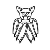 Fledermaus-Symbol. Gekritzel Hand gezeichnet oder schwarzer Umriss Symbol Stil