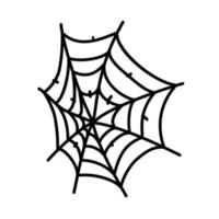 Spinnennetz-Symbol. Gekritzel Hand gezeichnet oder schwarzer Umriss Symbol Stil