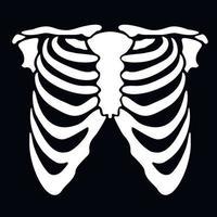 vit thorax stencil vektor