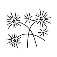 firande kul ikon. doodle handritad eller dispositionsikon stil vektor