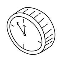 klockikonen. doodle handritad eller dispositionsikon stil vektor