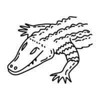 caiman-ikonen. doodle handritad eller dispositionsikon stil vektor