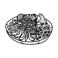 mabshoor-ikonen. doodle handritad eller dispositionsikon stil