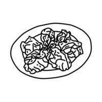 manthoo-ikonen. doodle handritad eller dispositionsikon stil vektor