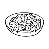 donburi-ikonen. doodle handritad eller dispositionsikon stil vektor