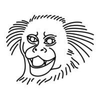marmoset ikon. doodle handritad eller dispositionsikon stil vektor