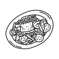 matazeez-ikonen. doodle handritad eller dispositionsikon stil vektor