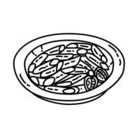 penne-ikonen. doodle handritad eller dispositionsikon stil vektor
