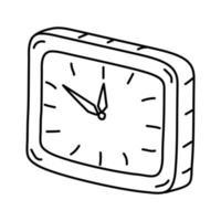 på klockikonen. doodle handritad eller dispositionsikon stil vektor