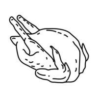 Fasanenikone. Gekritzel Hand gezeichnet oder Umriss Symbol Stil vektor