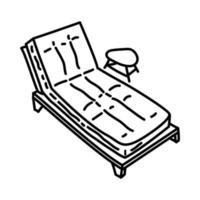 Sonnenbadeikone. Gekritzel Hand gezeichnet oder Umriss Symbol Stil vektor