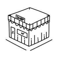 Shop-Symbol. Gekritzel Hand gezeichnet oder Umriss Symbol Stil vektor