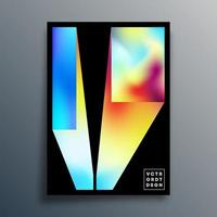 Minimales Design mit Farbverlaufstextur für Poster, Tapeten, Flyer, Broschüren, Typografie oder andere Druckprodukte. Vektorillustration