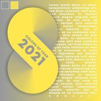 abstrakte geometrische Farbverlaufsdesignform mit Farben des Jahres 2021. Vektorillustration vektor