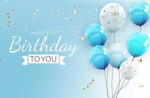 Geburtstagseinladungshintergrund mit Luftballons. Vektorillustration vektor