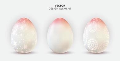 påskägg designelement samling på ljus bakgrund. vektor illustration