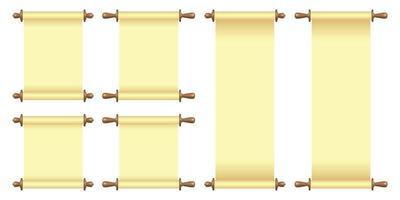 leere Papierrolle Vektorillustration lokalisiert auf Weiß vektor