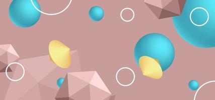 vektor abstrakt bakgrund med geometriska former.