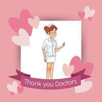 professionelle Krankenschwester Avatar Charakter Symbol vektor