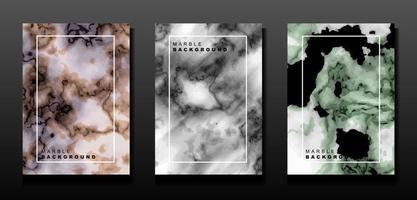 Satz Marmor Vektor Banner. abstrakter Hintergrund für Karten, Flyer, Präsentationen, Einladungen. Textur für Küche, Tisch, Bad, Wand.