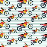 trail motorcykel sömlösa mönster vektorillustration vektor