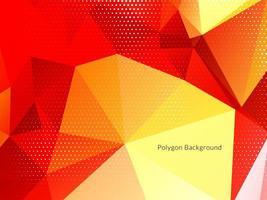 bunter dekorativer Polygon geometrischer Designhintergrund