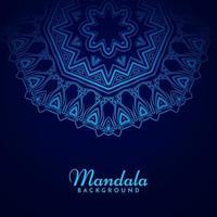 etnisk blå färg mandala design dekorativ bakgrund vektor