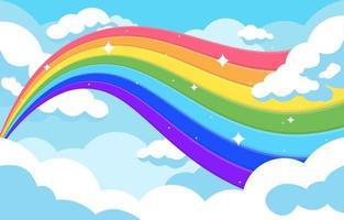bunter Regenbogenwellenhintergrund vektor