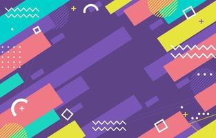 verspielter flacher geometrischer Hintergrund vektor