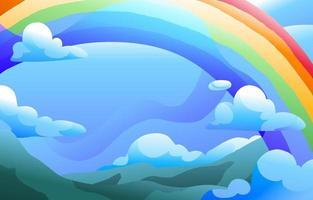 Regenbogengradientenhintergrund vektor