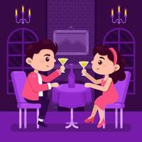 romantisches Paar Valentinstag Abendessen