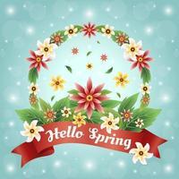 buntes und schönes Frühlingsblumenkonzept vektor