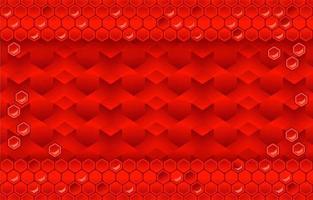 röd bakgrund med honungskaka vektor