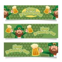 St. Patricks Day Festlichkeit Banner vektor