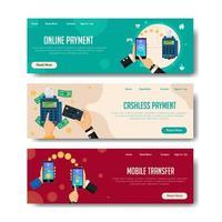 kontaktlös betalningsbanner vektor