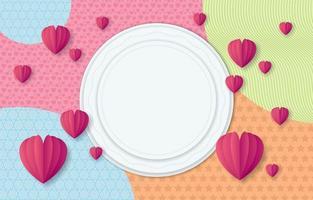 bunter Valentinstaghintergrund vektor
