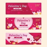 Geschenkkarte und Gutschein zum Valentinstag vektor