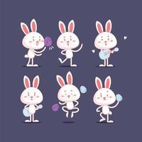 söt kanin som spelar en ukulele vektor