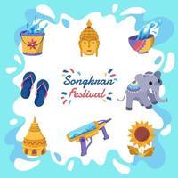 Songkran festival ikon vektor