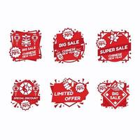 chinesisches Neujahrs-Marketing-Promotion-Label vektor