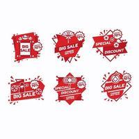 Set von chinesischen Neujahrs-Marketing-Labels vektor