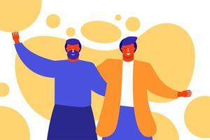 Freundschaftstag Feier mit jungen Männern vektor
