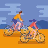 unga människor som cyklar utomhus