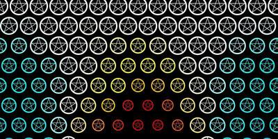 mörkblå, gul vektorstruktur med religionssymboler. vektor