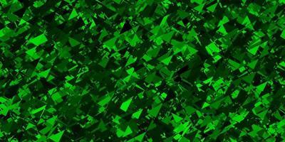 dunkelgrünes Vektormuster mit polygonalen Formen.