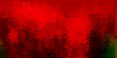 dunkelgrüne, rote Vektor-Gradienten-Polygon-Textur. vektor