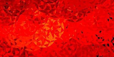 mörk orange vektor bakgrund med trianglar, linjer.