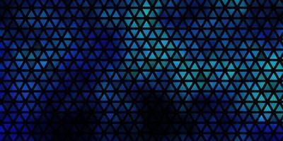 dunkelblauer, grüner Vektorhintergrund mit Dreiecken.