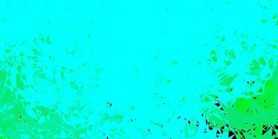 hellgrüner Vektorhintergrund mit Dreiecken, Linien.