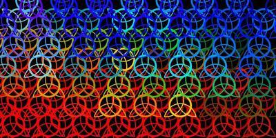 mörk flerfärgad vektorstruktur med religionssymboler. vektor